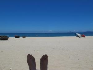 Taking a break on Hidden Beach near Hoi An, Vietnam